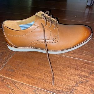 Men's Clark's Dark Tan Leather Dress Shoes